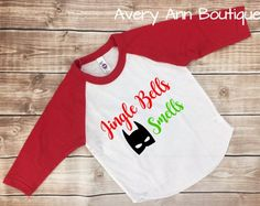 Jingle Bells Batman Smells T-Shirt Raglan Shirt Kids Raglan Kid Shirt Toddler Boys Raglan Girls Raglan Christmas Shirt Christmas Outfit by AveryAnnBoutique on Etsy