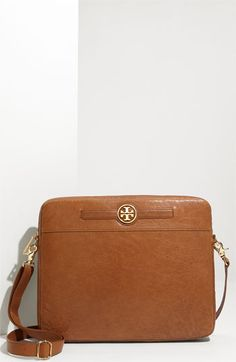 Tory Burch 'Audra' Leather Laptop Case. Must get obviously