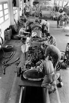Inside the Ferrari factory.