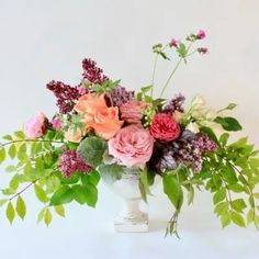 A garden inspired spring arrangement full of lush eclectic blooms in a lovely pedestal compote. Make her smile with these beautiful flowers! Wedding Centerpieces, Wedding Table, Wedding Day, Floral Wedding, Wedding Flowers, Victoria Wedding, Island Weddings, Vancouver Island, Pedestal
