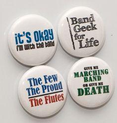 Flute band pins