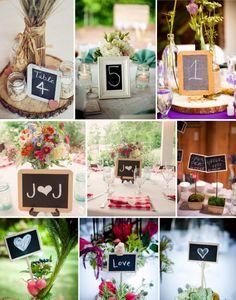 Pizarrones / Bodas rústicas / Eventos rústicos / Ideas originales para bodas / Decoraciones bodas / Rustic weddings / Chalkboards centerpieces