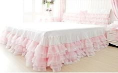 Princess Pink Laced Chiffon Cotton Ruffled 3 by QueenAndCastle