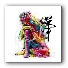 Free Shipping E-HOME Oil Painting Buddha Decoration Painting One Pcs Home Decor On Canvas Modern Wall Prints