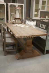 Kloostertafel Lindisfarne Dining Room, Dining Table, Wooden Tables, Clothes Racks, Shelves, Rustic, Decorations, Furniture, Kitchen