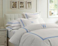 Classic Greek-Key Bedding #WilliamsSonoma