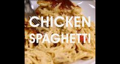 Full recipe below. Ingredients: 1 rotisserie chicken, deboned 1 package of spaghetti 1 block (1 lb) of Velveeta 1 can cream of mushroom soup 1 can Ro-Tel tomatoes with green chilies ½ teaspoon garl...