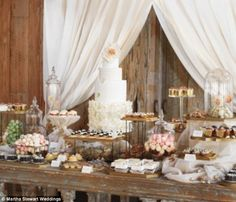 Blake Lively's dessert table. Tulle to cover risers