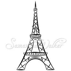 easy eiffel tower drawing   These die cuts will make great vinyl wall art or heat transfer pieces ...