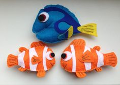 A personal favourite from my Etsy shop https://www.etsy.com/listing/237819877/finding-nemo-nemo-marlin-dory