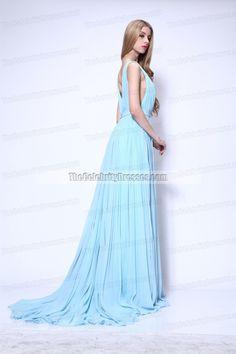 Lupita Nyong'o Light Sky Blue Formal Dress 2014 Oscar Red Carpet