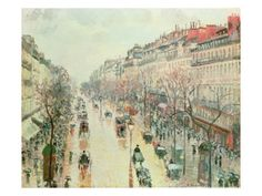 The Boulevard Montmartre, 1893 by Camille Pissarro