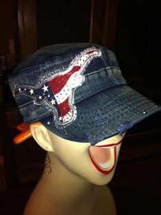 c94ab20cc81 NEW Star Spangled Texas Longhorn cadet cap in by NicolesBlingThing