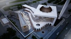 COMPETITION -CENTRAL MOSQUE OF PRISHTINA - X-PLAN STUDIO - Picture gallery Mosque Architecture, Architecture Sketchbook, Concept Architecture, Futuristic Architecture, Amazing Architecture, Architecture Design, Sustainable Architecture, Landscape Architecture, Pink Mosque