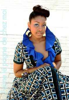 African print inspired dress