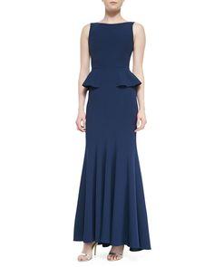Pin for Later: Liebe Bräute, diese 24 Kleider solltet ihr für eure Mütter vormerken BCBG Max Azria Peplum Gown BCBG Max Azria Sleeveless Crepe Peplum Gown ($448)
