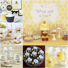 Bee-themed baby shower