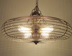 Mid Century INDUSTRIAL Chandelier Light & Vintage by LampGoods