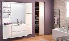 meuble salle de bains Evolution E105MJD, coloris blanc Armoire, Divider, Room, Evolution, Furniture, Home Decor, Master Bathroom Vanity, Glass Shelving Unit, White People