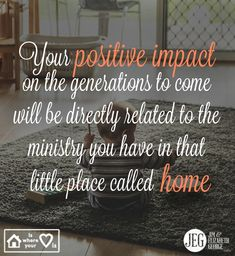 """How is your commitment to your home and the people who live in it? Your positive impact on the generations to come will be directly related to the ministry you have in that little place called home. Jim shares biblical guidance and encouragement in """"A Husband After God's Own Heart."""""""