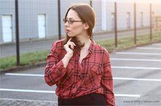 Herbst-Look mit Karo-Hemd und Palazzo-Hose | http://www.a-little-fashion.com/fashion/karo-crash-outfit-mit-karohemd