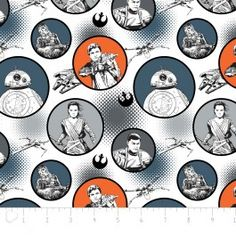 Star Wars The Force Réveille Tissu-Stormtroopers Blanc 100/% coton