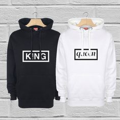 King and Queen Hoodies Couples Hoodies Mr and Mrs by byRhonnie Matching Couples, Matching Outfits, Cute Couples, Matching Couple Shirts, Cute Boyfriend Gifts, Matching Hoodies, Promotional Clothing, Couple Outfits, Couple Clothes