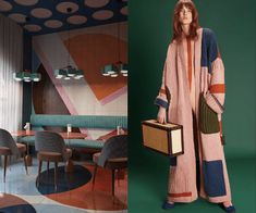 When Interior Design Meets Fashion: Color Blocking