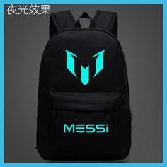 Logo Messi Backpack Bag Men Boys Barcelona Travel Bag Teenagers School Gift Kids Bagpack Mochila Bolsas Escolar