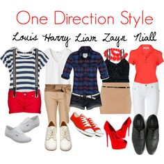 One Direction Style, created by laurynnlovesgod on Polyvore