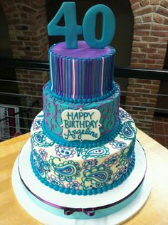 WHITE FLOWER CAKE SHOPPE. I love this!! Candy Cakes, Cupcake Cakes, Royal Icing Cookies, Cake Cookies, Adult Birthday Cakes, Happy Birthday, Henna Cake, White Flower Cake Shoppe, Teacher Cakes