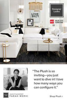 Living Room Modern, Home Living Room, Apartment Living, Living Room Designs, Living Room Decor, Room Ideas Bedroom, Bedroom Decor, Black And White Living Room, Organization