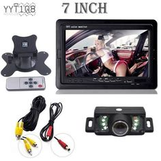 Car Rearview Monitor Rearview Backup Camera System 7 TFT LCD Screen Nightvision…