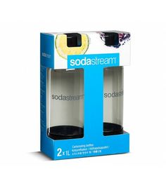 Designed to withstand the continual pressure of carbonation, SodaStream Carbonating Bottles feature a hermetic sealing lid to keep your sparkling drinks fizzy for longer. Each bottle has a lifespan of 3 years and is BPA-free. Plastic Bottles, Water Bottles, Black Twins, Sparkling Drinks, Carbonated Drinks, Brush Cleaner, Drip Coffee Maker, Kitchenware, Dishwasher