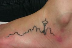 I have no connection to Seattle, but a city skyline of a place you live or love is a great tattoo idea. Seattle Skyline Tattoo, Seattle Tattoo, Great Tattoos, Beautiful Tattoos, Small Tattoos, Tattoo Blog, I Tattoo, Tattoo Quotes, Future Tattoos