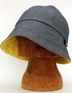 5994ed3ec3f Womens denim cloche rain hat