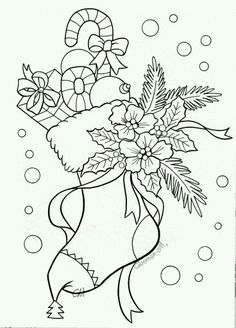 Coloring Pages - Find more colorful with printable coloring pages for adults and kids. Browse the wide selection of free coloring pages for kids to find educational. Christmas Coloring Pages, Coloring Book Pages, Printable Coloring Pages, Coloring Sheets, Printable Art, Christmas Colors, Christmas Art, Christmas Stocking, Xmas