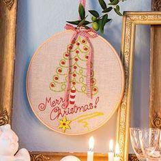 Christmas Greetings Hoop using Anchor Freccia