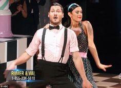 "Dancing With the Stars - Val Chmerkovskiy & Rumer Willis danced a 1960s jive to Meghan Trainor's ""Dear Future Husband"" - season 20 - week-7 - spring 2015 - score - 8+9+9+9 = 35"