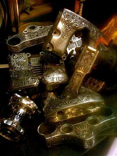 Engraved Motorcycle parts More