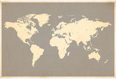 World Map Print by Fresh Words Market #maps #art #decor