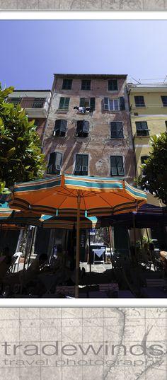 At street caffe of Manarola, Cinque Terre National Park (Parco Nazionale delle Cinque Terre), Italy