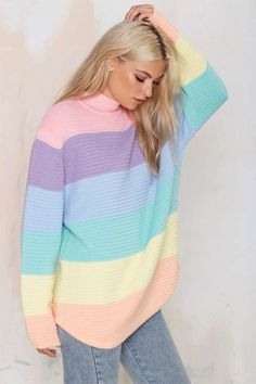 Time to pullover. Shop pullover sweaters, oversized sweaters, turtleneck sweaters and more at Nasty Gal. Pastel Fashion, Kawaii Fashion, Cute Fashion, Bad Fashion, Rainbow Fashion, Japan Fashion, India Fashion, Lolita Fashion, Fashion Styles