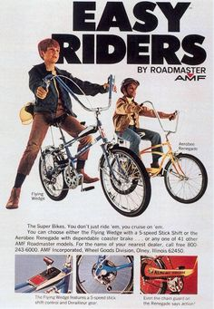 """Easy Rider"" Bikes by Roadmaste AMF, Magazine Ad., 1970"