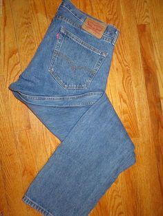 Vintage Men's Levi's 505 Blue Jeans Size 36 X 32  #4002 #Levis