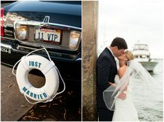 Lots of cute nautical touches at this preppy chic wedding | Bridal Musings