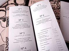 Grazia menu designed by P576