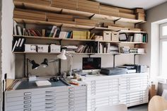 Studio of Christoph Niemann photo by: Robbie Lawrence Design Studio Office, Life Space, Workshop Studio, Interior Architecture, Interior Design, Workspace Inspiration, Interior Inspiration, Office Interiors, Entryway Decor