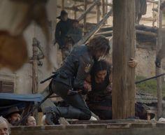 Athos x Sylvie The Musketeers Tv Series, Bbc Musketeers, The Three Musketeers, Howard Charles, Luke Pasqualino, Tom Burke, Farm Boys, King And Country, Prisoners Of War