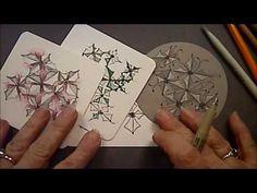 Meriberries Tangle Pattern Lesson #127 - YouTube